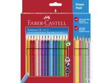 Actie! Faber Castell kleurpotloden Colour grip (24 st)