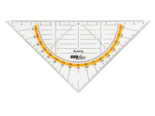 aristo geodriehoek flexibel 16cm