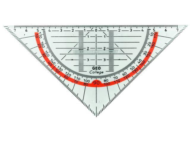 aristo geodriehoek met greep 16cm