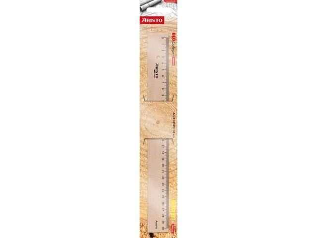 aristo liniaal hout met metaalinleg 30cm
