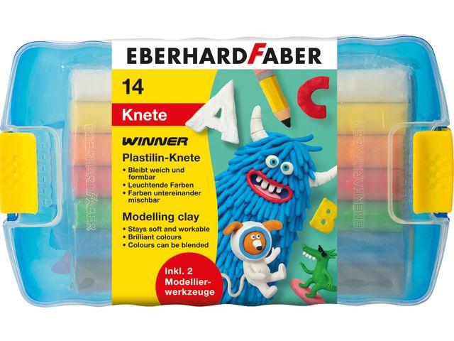 eberhard faber boetseerklei 7x2 kleuren in bewaardoos