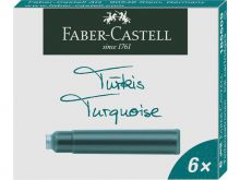 Faber-Castell Inktpatroon Turkoois (6 st.)