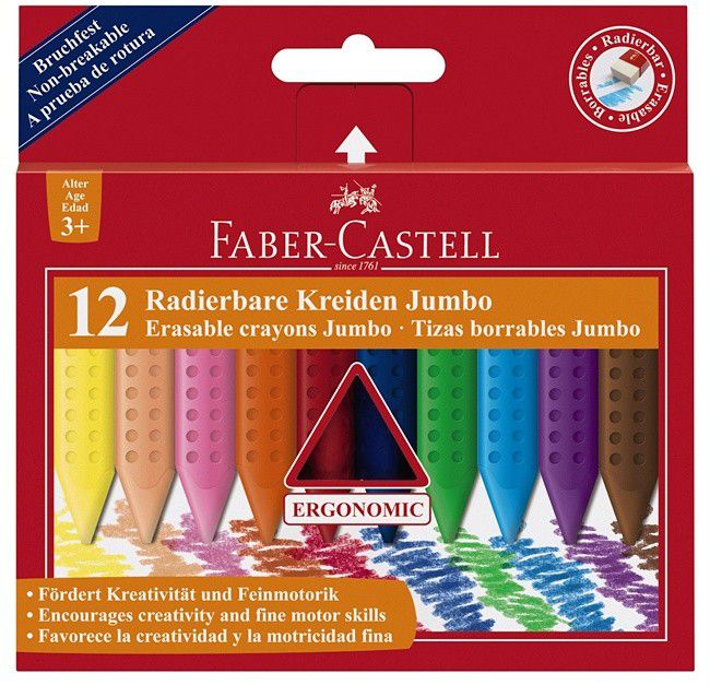 faber castell jumbo grip waskrijt
