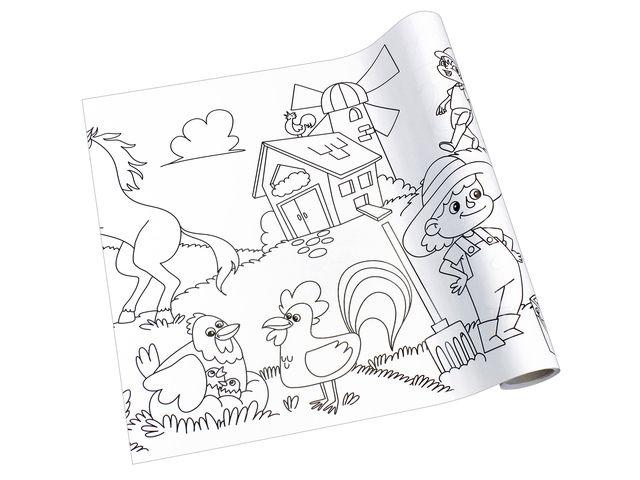 kleurplaat op rol boerderij de schrijfvriend
