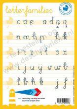 Letterkaart Schrijfletters-families