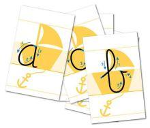 Letterlijnkaarten Schrijfletters