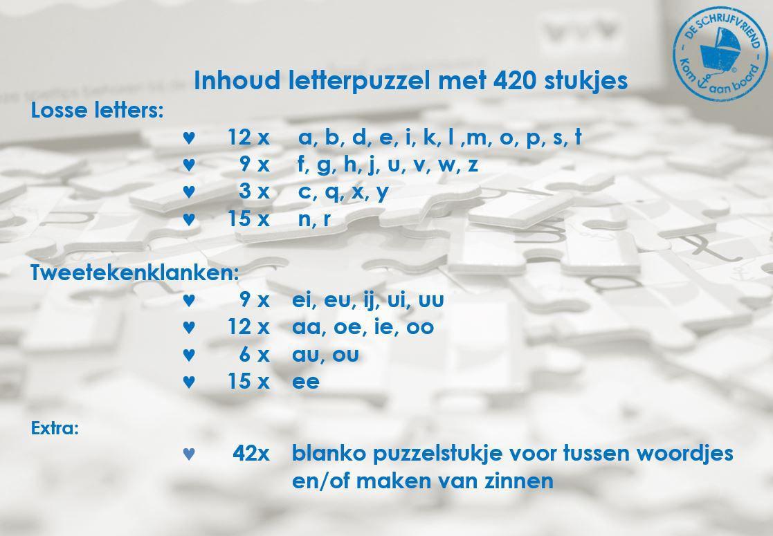 letterpuzzel aan boord schrijfletters