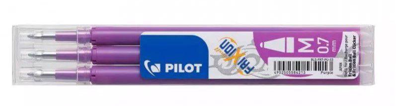 nieuw pilot vulling frixion 07 paars 3 st