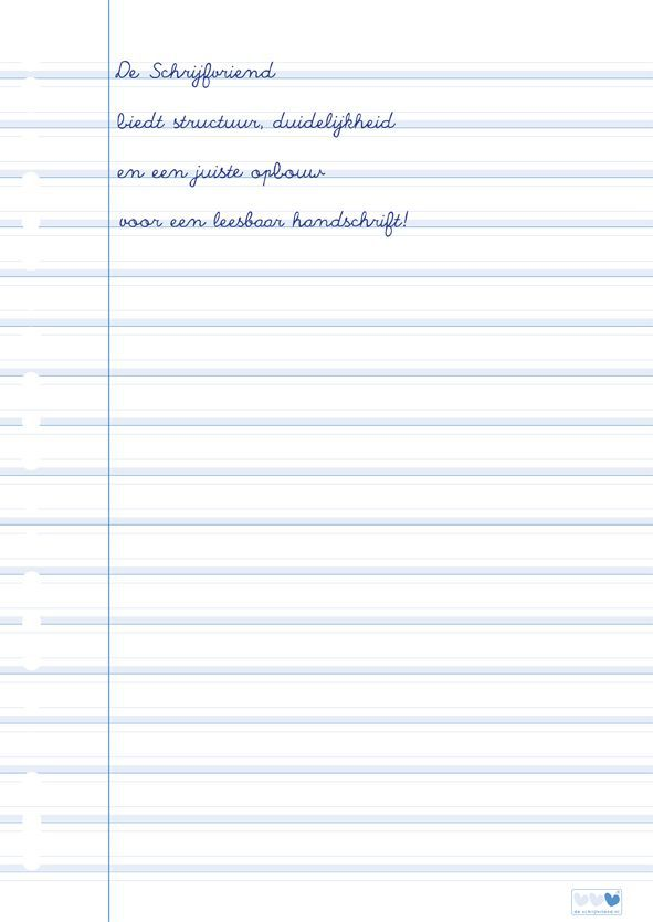 ringbandpapier schrijfvriend blauw1