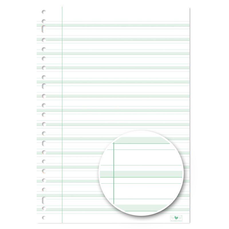 ringbandpapier schrijfvriend groen