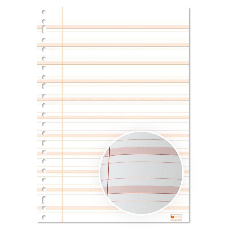 ringbandpapier schrijfvriend rood