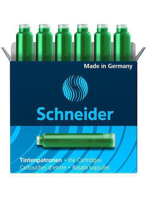 schneider inktpatroon groen 6 st
