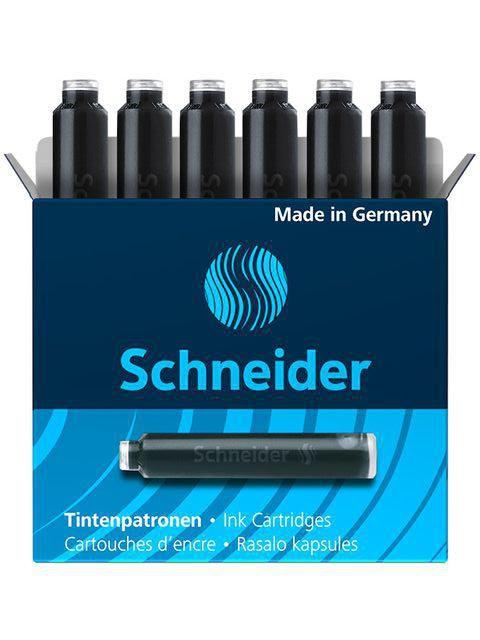 schneider inktpatroon zwart 6 st