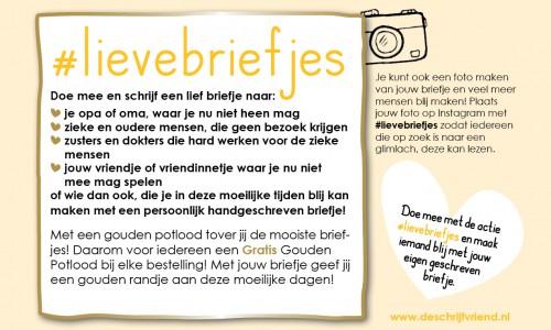 Schrijf #Lieve Briefjes