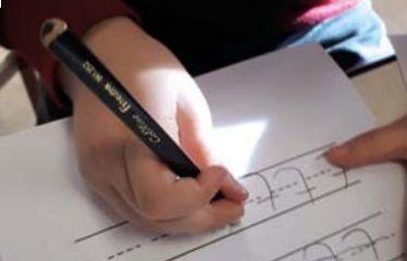 De mijlpaal van leren schrijven